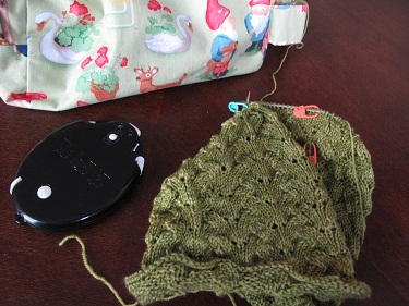 Lettuce cowl in progress