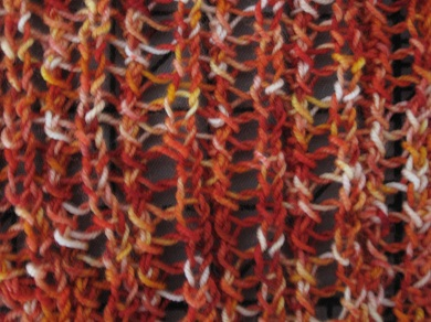 Summer lace rib scarf closeup 02