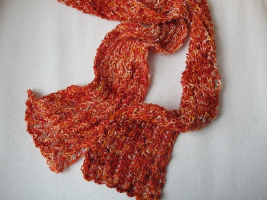 Summer lace rib scarf draped