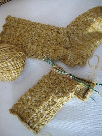 Guilded sock wip