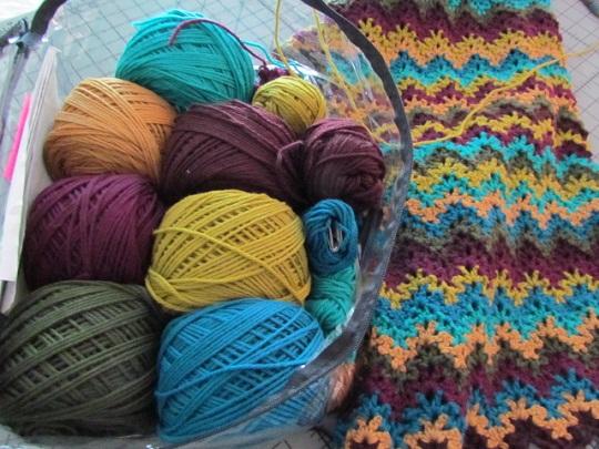 Vintage ripple w yarn wip