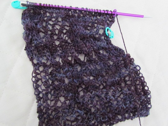 Wollmeise lace swatch