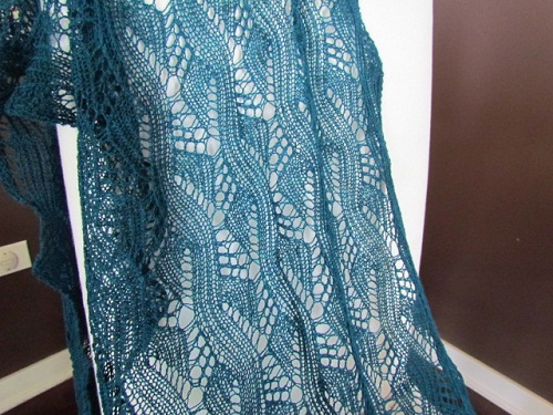 Knit Lace Stitch Scarf : the knitting buzz: Lace Knitting