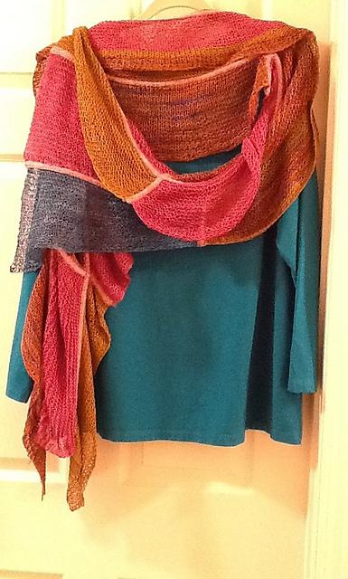 Waterfall shawl