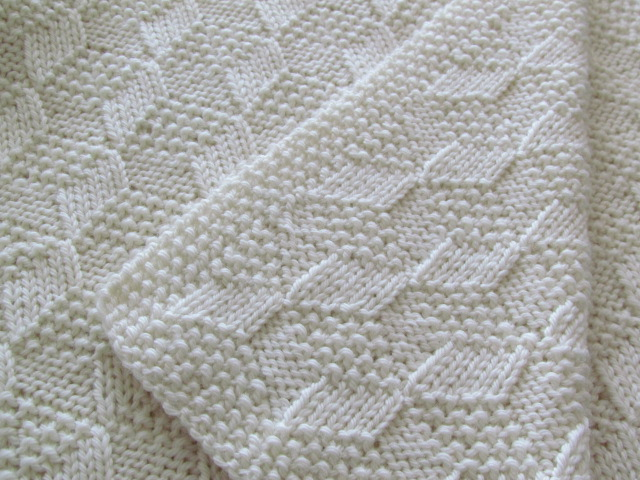 Baby Blanket Knitting Pattern : Reversible Knitted Baby Blanket Pattern
