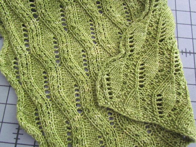 Vogue Knitting Leaf Blanket Pattern : the knitting buzz: Lace Knitting