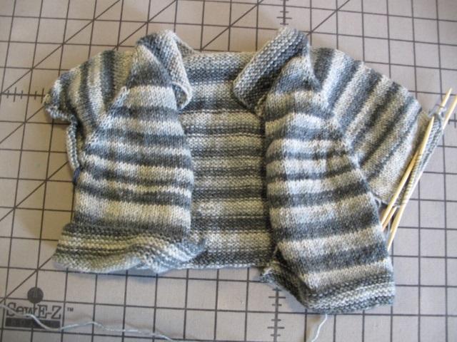 Striped baby cardi wip