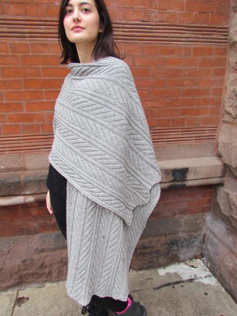 Fossil leaf wrap scarf 005