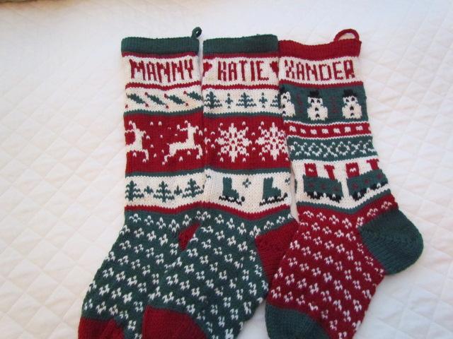 Xmas stockings, broken rib scarf, horizon rib scarf, dawn socks, 003
