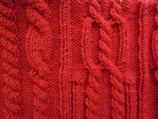 Kiki cable sweater closeup