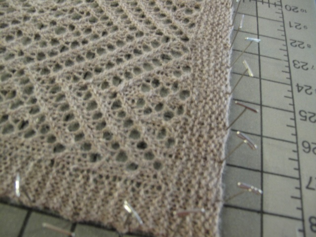 Serin Lace Blocking detail